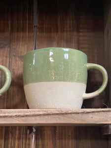 Stoneware Two Tone Mug Sage Green