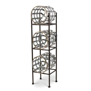 Vertical Iron Stand with removable baskets