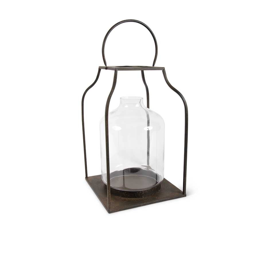 Lantern with Bronze Finish