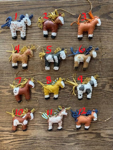 Handmade Leather Pony Ornaments! TWELVE Options!
