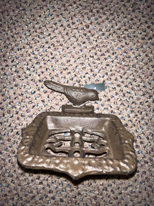 Caste iron bird soap holder