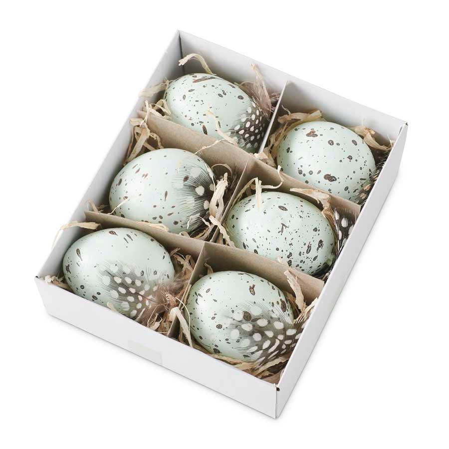 Box of 6 Speckled Blue Eggs