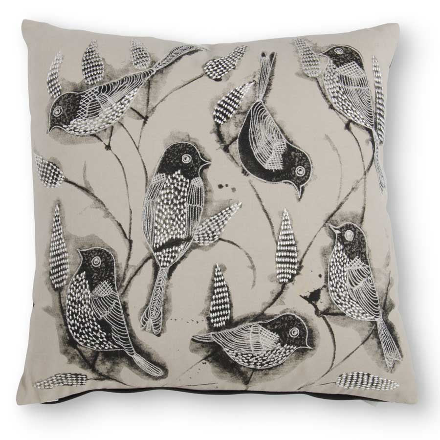 Multi Bird Pillow