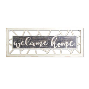 "31.5"" Whitewashed Wood WELCOME HOME Sign"