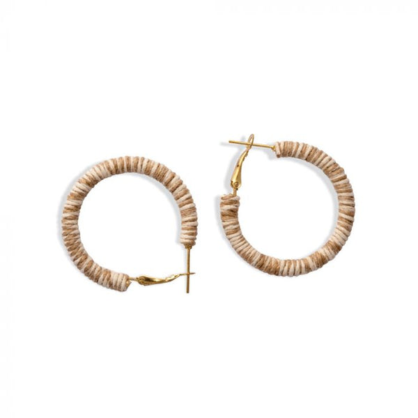 Myra Bag Nude Notes Hoop Earrings!!!