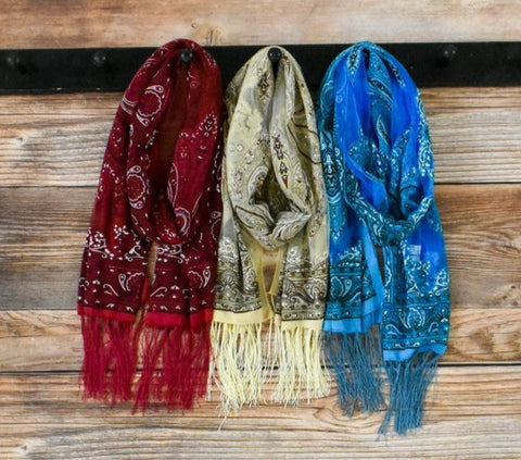 Tasha Polizzi Bandana Scarves!!! THREE COLORS!!!