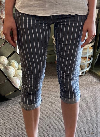 Angela Mara Pull On Drawstring Stripe Pant!!!