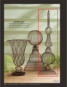 Weathered Metal Wire Finial Garden Structure! PICK UP ONLY!