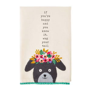 Mud Pie Happy Pet Hand Towel