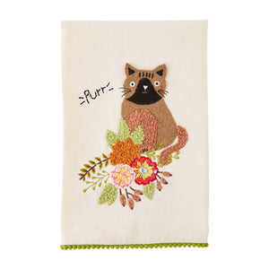 Mud Pie Purr Pet Hand Towel