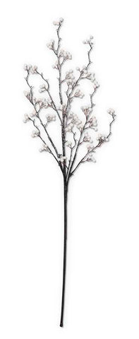 36 Inch Iced White Berry Branch