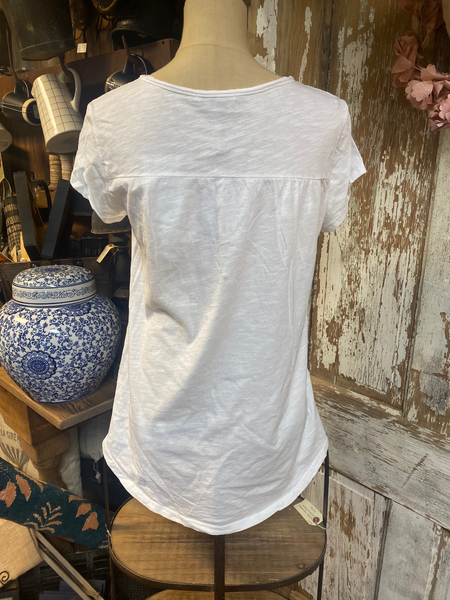 Angela Mara White Linen Blouse!!!