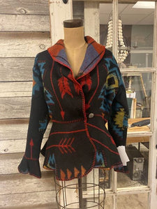 Rhonda Stark Designs Blackfoot Flounce Wrap Jacket!!!