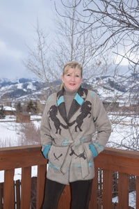 Rhonda Stark Designs Tan Rodeo Wrap Coat!!!