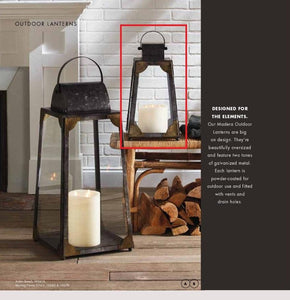 Madera Outdoor Lantern Small! PICK UP ONLY!