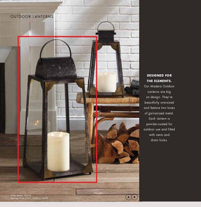 Madera Outdoor Lantern Large! PICK UP ONLY!