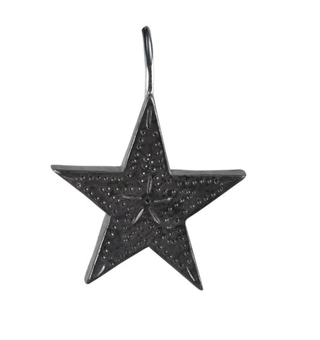 Set of Tin Star Shower Curtain Hooks