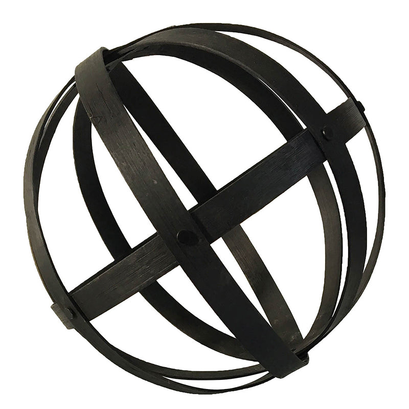 Black Wood Sphere 10""
