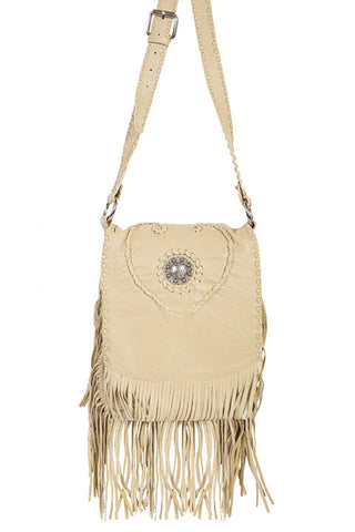 Scully Cream Leather Handbag