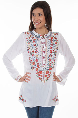 Scully Bib Button Up Embroidered Blouse!!!