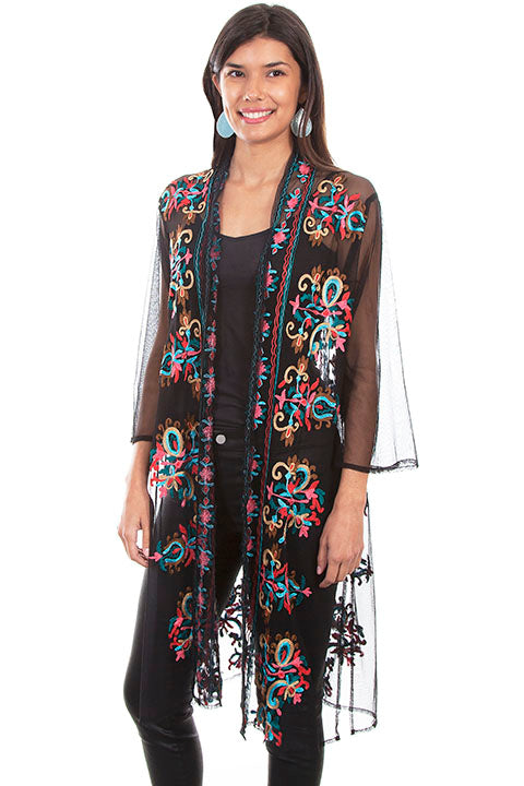 Scully Mesh Embroidered Duster!!!