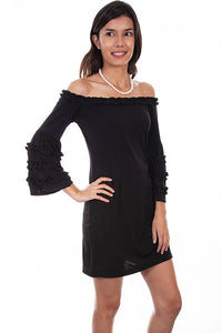 Scully Black Dress with Ruffle Detail!!!