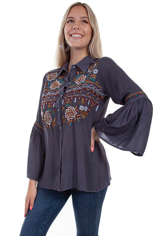 Scully Bell Sleeve Embroidered Blouse!!!