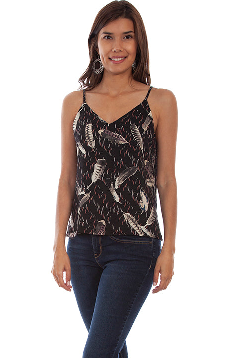 Scully Feather/Floral Reversible Tank!!!