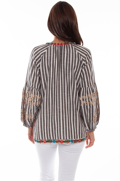 Scully Embroidered Stripe Blouse!!!