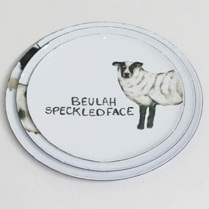 "5"" Beulah Speckled Face Sheep Enamel Plate"