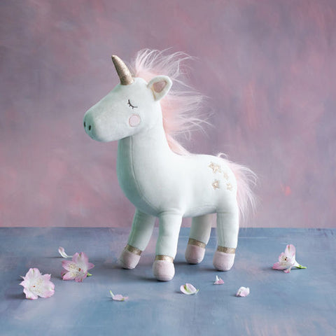 White Fabric Unicorn Plush