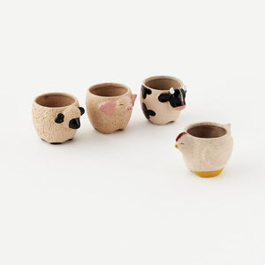 Farm Animal Plant Pots! Four Styles!