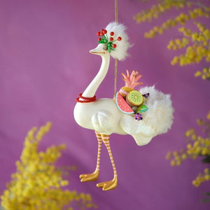 Glitterville Lulu the Ostrich Ornament
