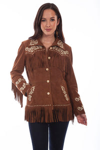 Scully Suede Fringe & Embroidered Jacket