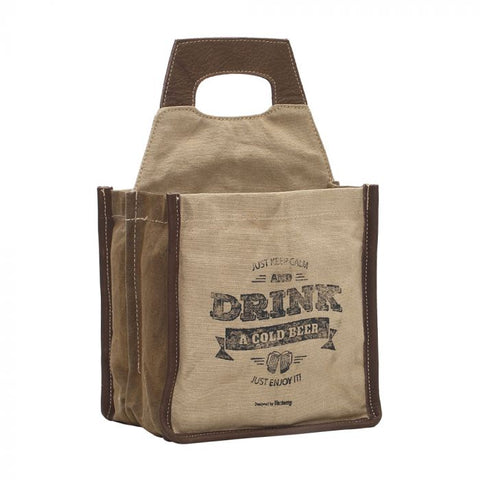 "Myra Bag "" Just Keep Calm and Drink Beer"" Beer Caddy"