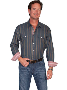 Scully Slate Colored Long Sleeve Men's Shirt!