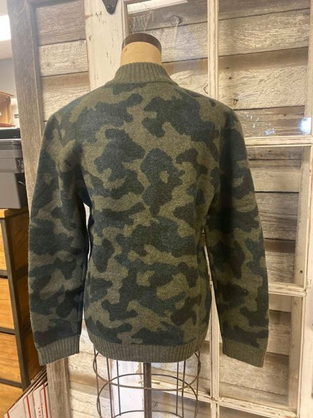 Pendleton Men's Boiled Wool Bomber Jacket!!! Olive Camo!!