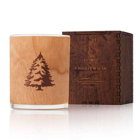 Thymes Aromatic Wooden Wick Candle