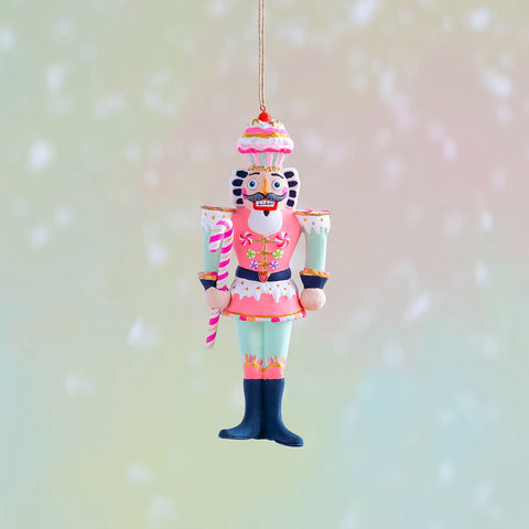 Glitterville Gold Colonel Cupcake Ornament