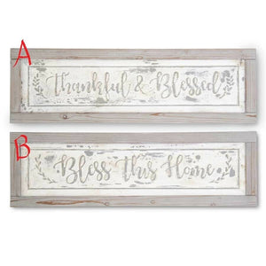 "35.5"" Wood Framed Metal Inspirational Signs! TWO STYLES!"