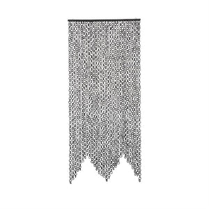 Black Bamboo Link Curtain