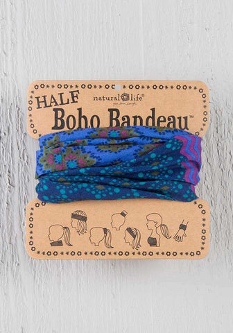 Natural Life Purple & Blue Stripe Half Boho Bandeau