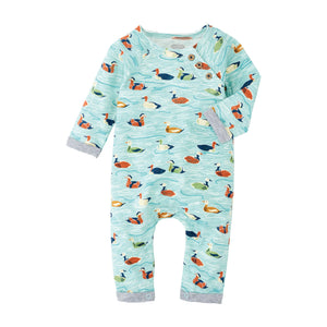Mud Pie Mallard Duck Long Sleeve Baby Bodysuit