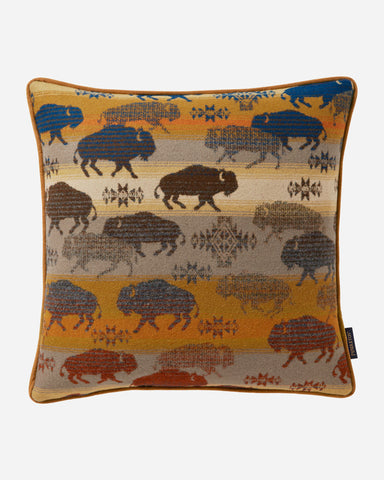 Pendleton Prairie Rush Land of the Buffalo Pillow
