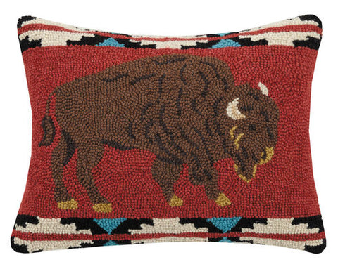 "Wool Buffalo Pillow 14""x18"""