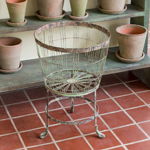 Old Paint Wire Bushel Stand