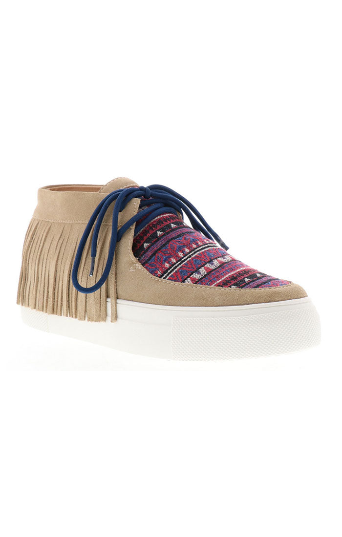 Volatile Capistrano Desert Boot with Fringe!!! Natural/Multi!!!