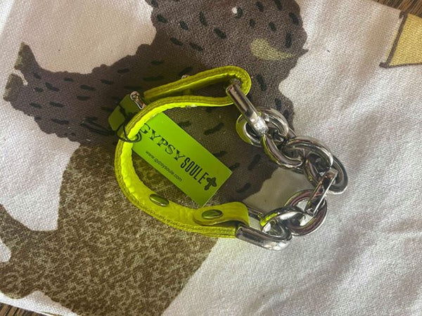 Gypsy Soule Highlighter Yellow Chain Bracelet