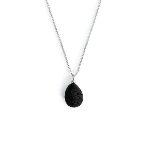 Comfort Aromatherapy Teardrop Necklace in Silver