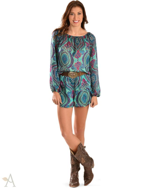 Cowgirl Justice Paisley Romper
